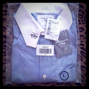 Abercrombie & Fitch Shirts - NWT ABERCROMBIE collar shirt MUSCLE L